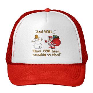 El gorra de Santa y del muñeco de nieve, elige col