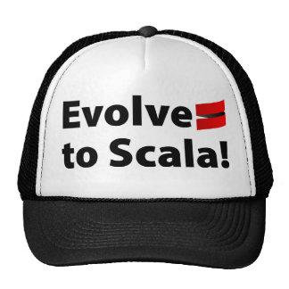 El gorra de Scala, desarrolla el logotipo