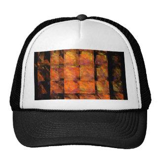 El gorra del arte abstracto de la pared