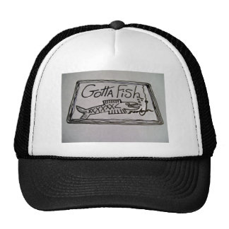 El gorra del camionero con diseño de los pescados