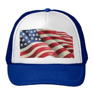 El gorra del camionero de la bandera americana