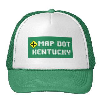 El gorra del camionero del punto del mapa