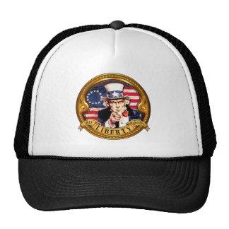 El gorra del camionero redondo del logotipo de The