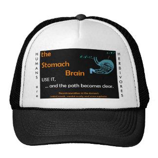 El gorra del cerebro del estómago