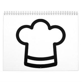 El gorra del cocinero calendarios