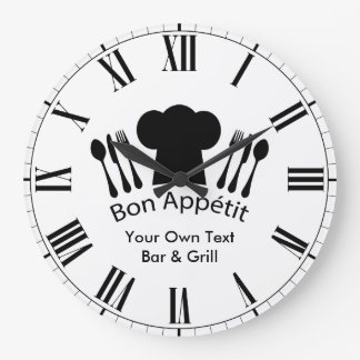 El gorra del cocinero de Appetit del Bon añade su Reloj Redondo Grande