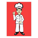El gorra del cocinero invitación 12,7 x 17,8 cm