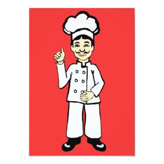 """El gorra del cocinero invitación 5"""" x 7"""""""