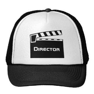 El gorra del director de película con la pizarra d