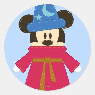 El gorra del hechicero de Pook-a-Looz Mickey el | Pegatina Redonda