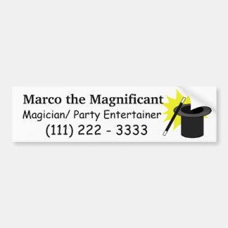 El gorra del mago de la magia yo etiqueta de parachoque