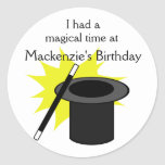 El gorra del mago de la magia yo pegatina