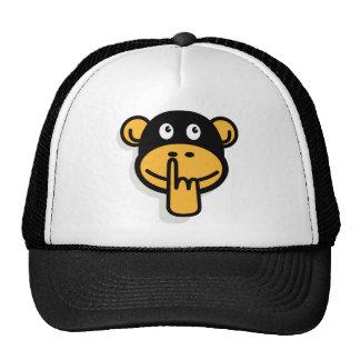 El gorra del mono de la amoladora