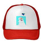 el gorra del muñeco de nieve