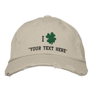 El gorra del trébol, crea sus los propios gorras de béisbol bordadas