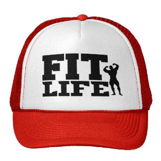 El gorra divertido de los hombres aptos de la vida