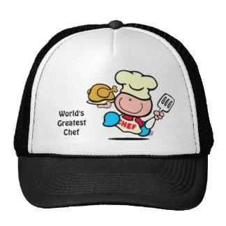 El gorra más grande del cocinero del mundo
