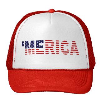 El gorra original del camionero de la bandera de