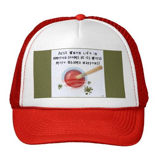 El gorra rojo del camionero con Obama sucede logot