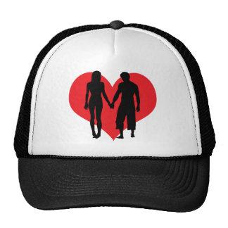 El gorra rojo del corazón del el día de San Valent