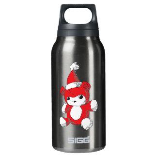 El gorra rojo lindo de Santa del oso de peluche
