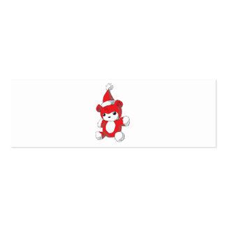 El gorra rojo lindo de Santa del oso de peluche Plantillas De Tarjeta De Negocio
