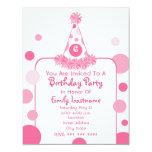 El gorra rosado de la fiesta de cumpleaños del comunicado personalizado