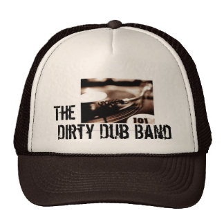 El gorra sucio del rasguño de la banda de la copia