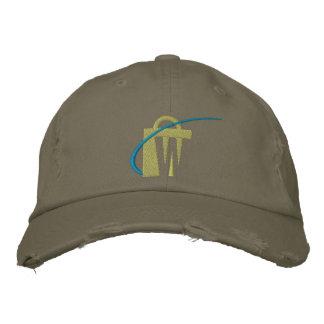 El gorra verde oliva bordado más grande del tipo d gorra de béisbol bordada