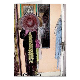 El gorra y bufanda - tarjeta del patsy de letra