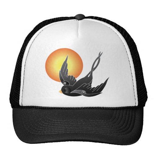 El gorrión negro gorros bordados