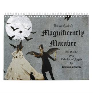 El gótico macabro de la galleta 2012 de Winona mag Calendarios