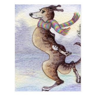 Él gozó del viento a través de sus oídos tarjeta postal