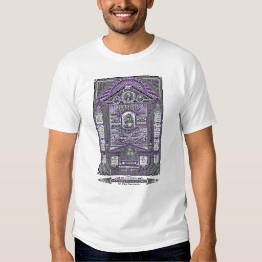 El grabado del vintage de Prayer del señor Camisas