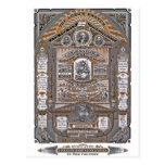 El grabado del vintage de Prayer del señor (NARANJ Tarjeta Postal