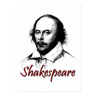 El grabar al agua fuerte de William Shakespeare Postal