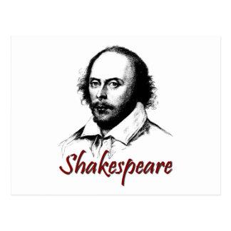 El grabar al agua fuerte de William Shakespeare Tarjeta Postal