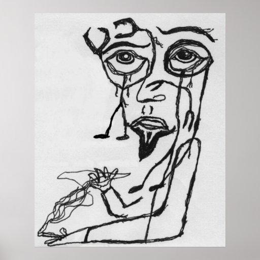 El grado del brazo - hombre que alcanza surrealist posters
