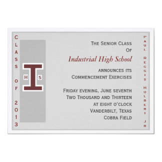 El graduado invita invitación 11,4 x 15,8 cm
