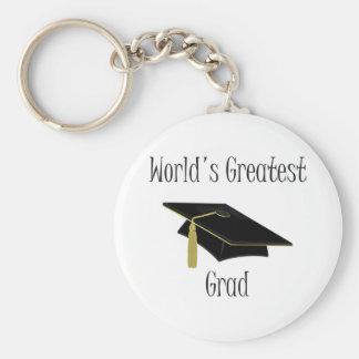 El graduado más grande del mundo llavero redondo tipo pin
