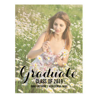 El graduado moderno del verano invita a la postal