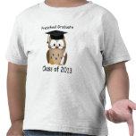 El graduado sabio lindo de encargo del preescolar camiseta
