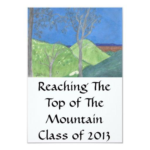 """El graduado superior de la montaña invita por invitación 3.5"""" x 5"""""""