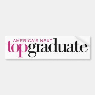El graduado superior siguiente de América Pegatina Para Auto