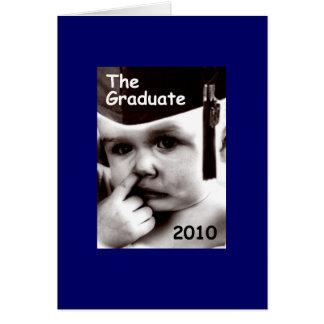el graduado (varón) tarjeta de felicitación