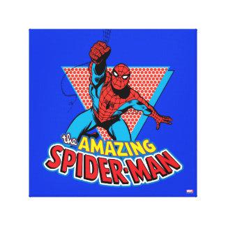 El gráfico asombroso de Spider-Man Impresión En Lienzo