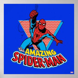 El gráfico asombroso de Spider-Man Póster