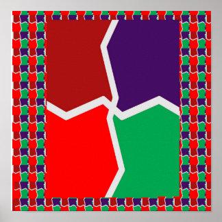 El gráfico de color intenso de la PLANTILLA añade Póster