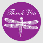El gráfico de la libélula le agradece alrededor etiquetas