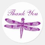El gráfico de la libélula le agradece etiquetas redondas
